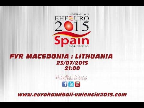 PR - Group B | FYR Macedonia : Lithuania