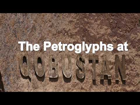 HISTORIC ROCK ART - PETROGLYPHS AT QOBUSTAN, AZERBAIJAN
