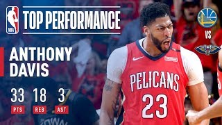 Anthony Davis Puts Up 33 Points 18 Rebounds In Game 3 Victory