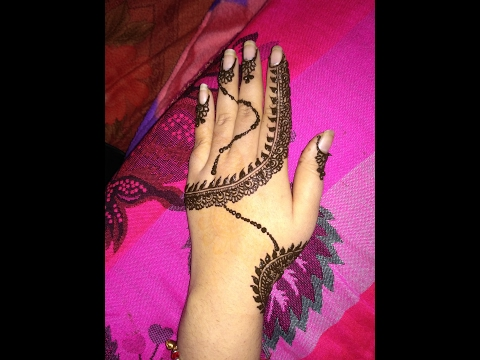 Easy Simple And Latest  Arabic Heena Mehndi Designs For Back Hands 2017 Step By Step