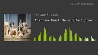 Adam and Eve 1: Naming the Puppies