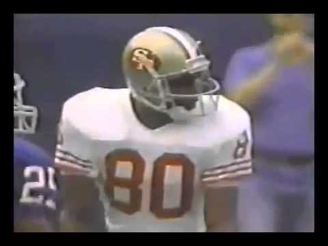 Joe Montana hits Jerry Rice for last second touchdown against New York Giants | September 1988