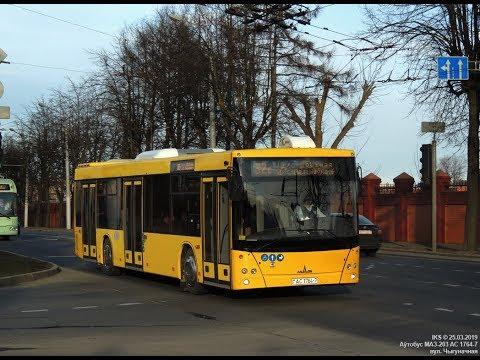 Поездка на автобусе МАЗ-203.069,гос.№ АС 1764-7, марш.19т