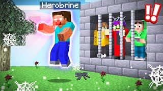 BREAK FREE From HEROBRINE'S PRISON CELL! (Minecraft)