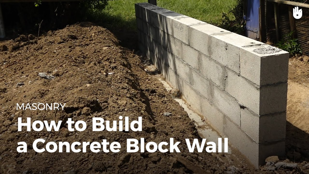 How to build a concrete wall diy projects youtube for How to build a concrete block wall foundation