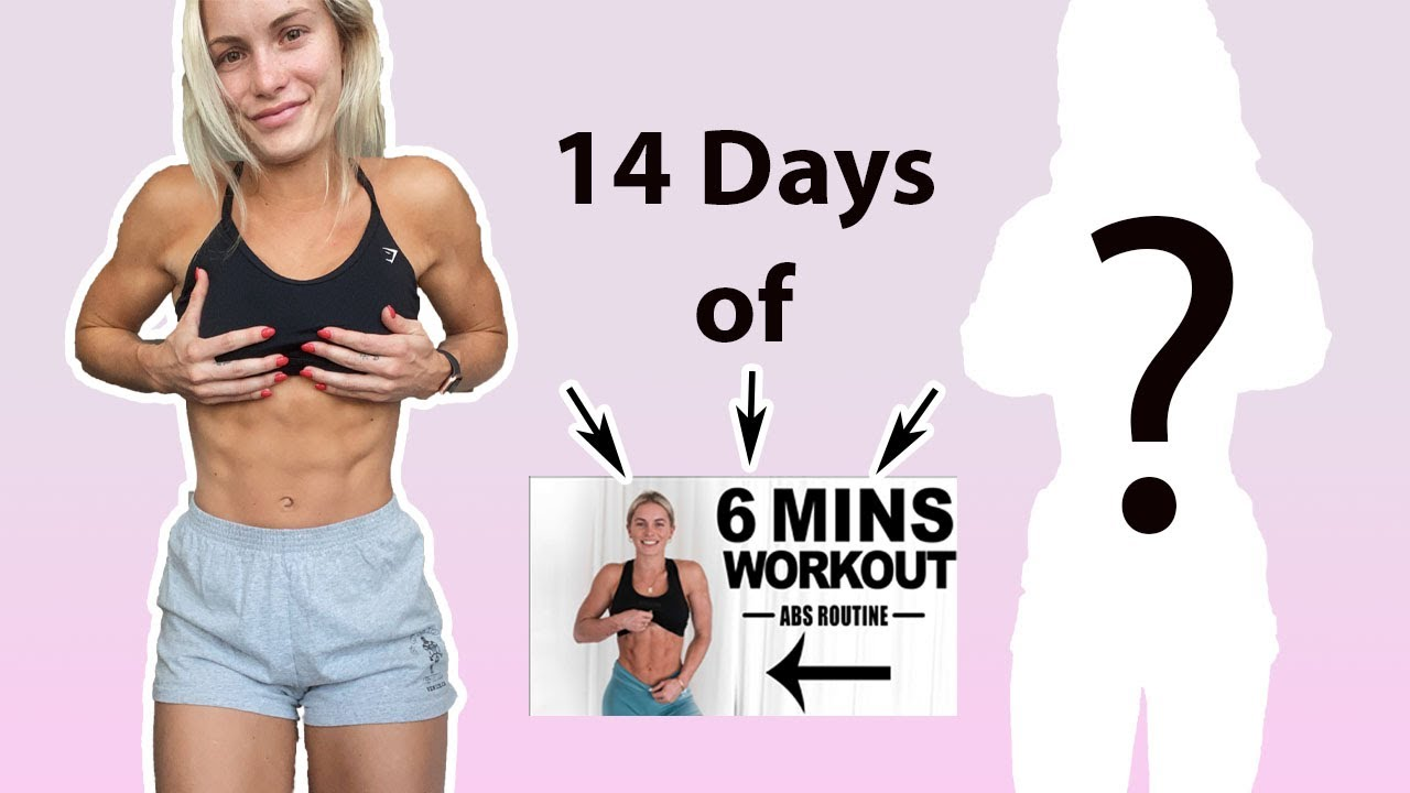 I did my '6 minute ab workout' for 14 days in hotel quarantine...