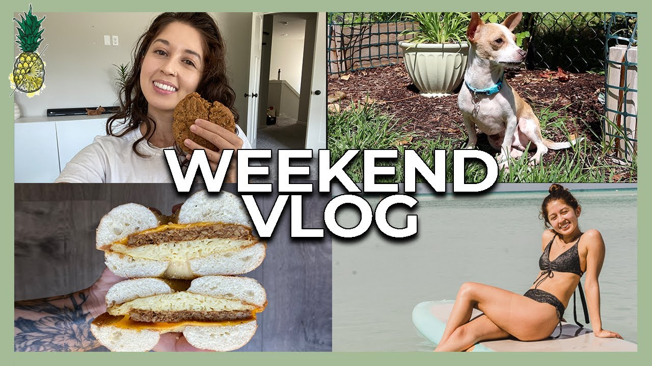 Weekend Vlog: Lazy Vegan Meals + Beach Day