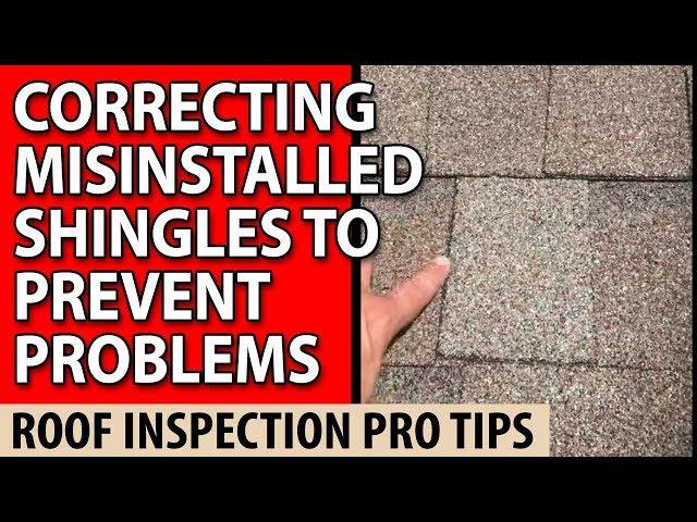 37830 Roof Inspection Oak Ridge TN - shingles MISINSTALLED
