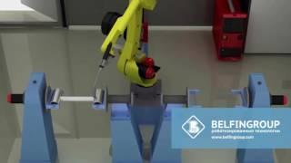 Робот для сварки Стальной Вставки (Элемент радиатора)(Сварочный робот для автоматизации сварки изделия - Вставка Сварная (Элемент конструкции радиаторов отопле..., 2016-05-30T08:29:36.000Z)