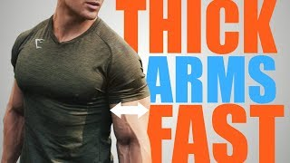 3 Exercises to get WIDE Masculine Arms FAST