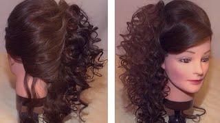 Ассиметричная прическа с локонами / Asymmetrical hairstyle with curls for long hair(Приятного просмотра :)) Подписывайтесь на канал. Еще будет много интересного. http://www.youtube.com/subscription_center?add_user=Elyn..., 2015-01-10T04:34:42.000Z)