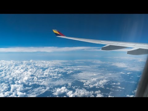 Full flight video, Tokyo (Haneda) to Seoul (Gimpo), A330-300, Asiana Airlines