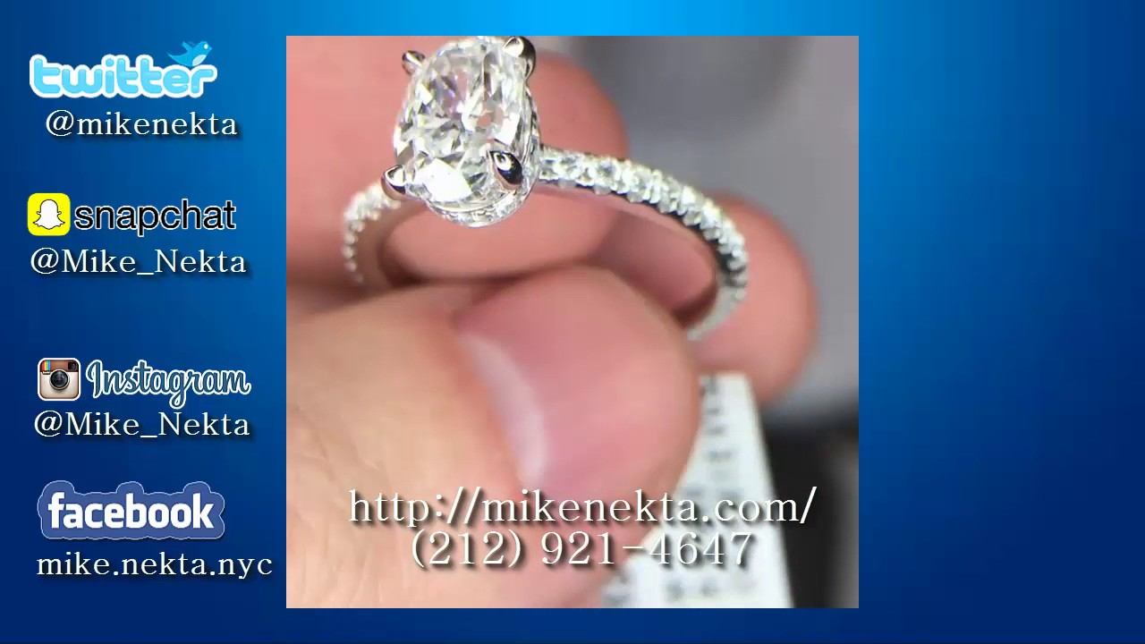 1.5ct Oval Center Diamond Engagement Ring - YouTube