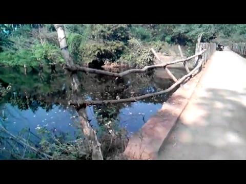 Students Cross Dangerous Bridge to Reach School