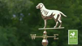 Gd560p Labrador Retriever Weathervane Polished Copper