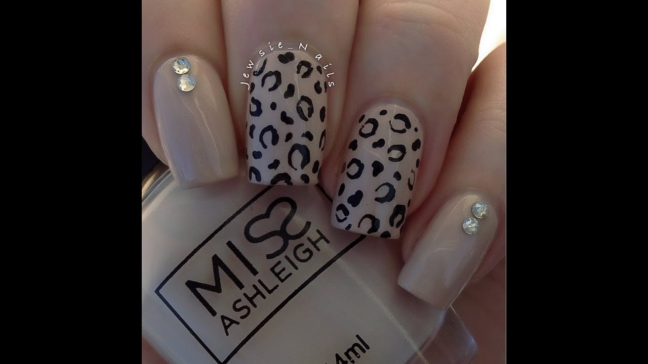 cheetah print nail art tutorial