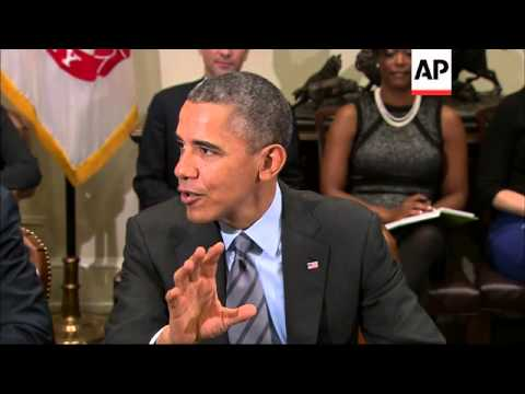 Meeting with CEOs at the White House Tuesday, President Barack Obama says U.S. businesses are lookin