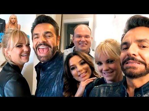 """Eugenio Derbez, Eva Longoria y Anna Faris promocionan su nueva película """"Overboard"""""""