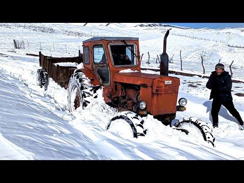 Част #1 | Трактор Т 40 Застрял в Снегу | Зимой едем в лес за дровами