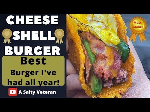 Cheese Taco Shell Burger | Weight Watchers Blue Plan | #WeightWatchers