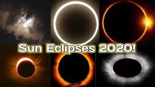 Sun Eclipses 2020 ! || 2020 सूर्य ग्रहण