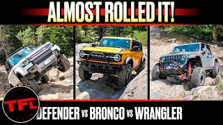 Can a Sasquatch Ford Bronco Keep Up With a Modded Wrangler & Defender When It Gets Serious OffRoad?