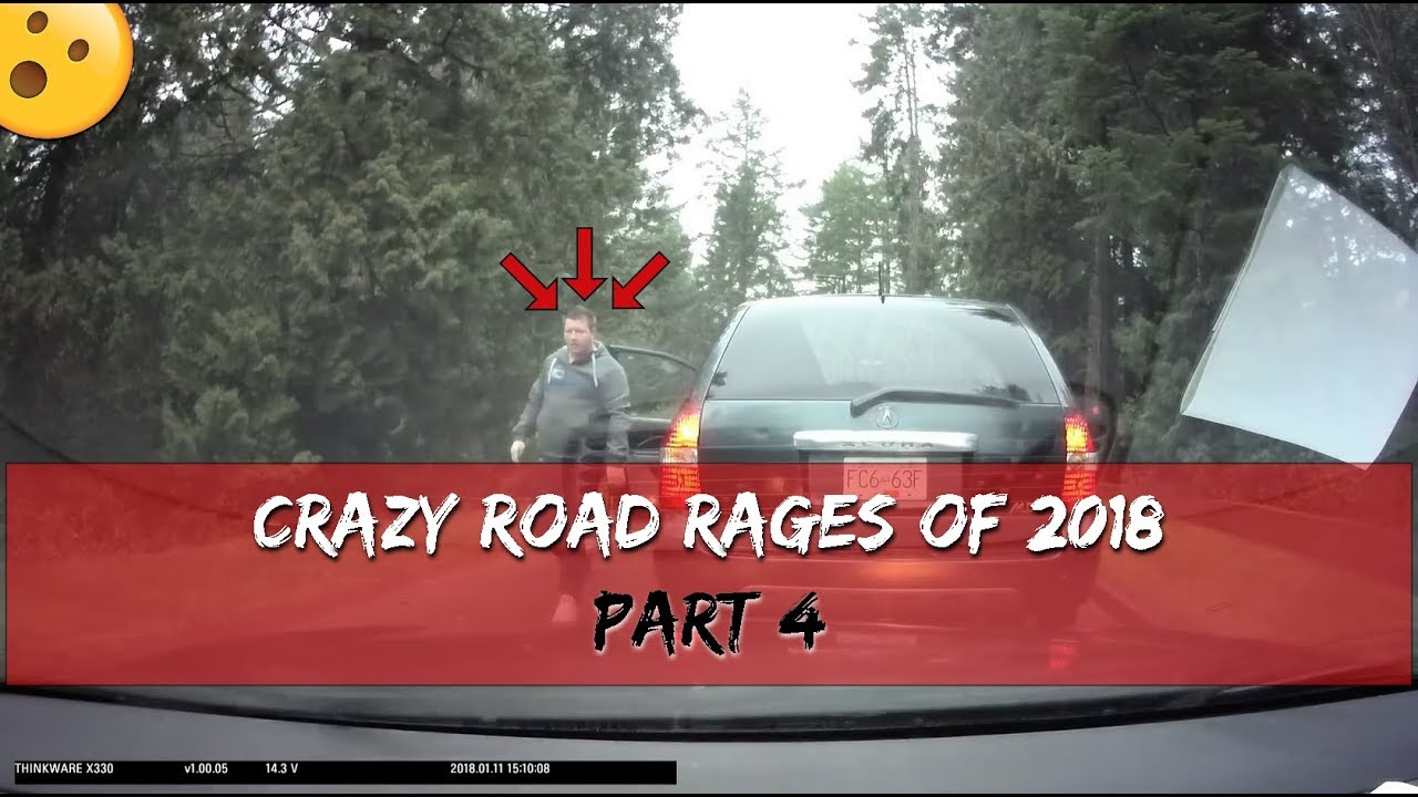 Crazy Road Rages Of 2018 - Bad Drivers Of USA, CANADA, UK - Part 4