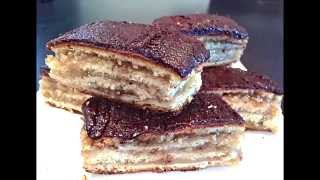 4 Layered Cake With Apricot And Walnuts - Zserbo By Magdi