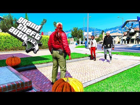 TRICK OR TREATING WITH MY SON #103 (GTA 5 REAL LIFE MOD)