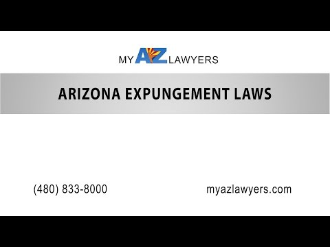 Arizona Expungement Laws | My AZ Lawyers