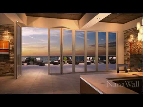 Nanawall Panels Bifold Glass Patio Doors Youtube