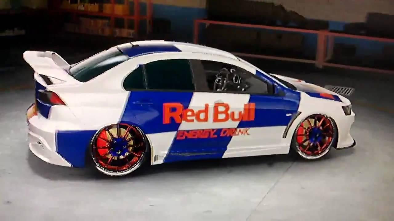 Charming Midnight Club Los Angeles   Red Bull Energy Drink Mitsubishi Lancer  Evolution X Tuning HD   YouTube Design