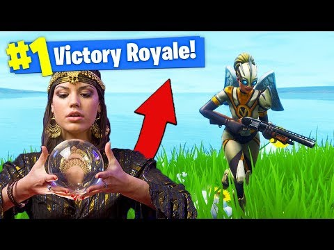Using a FORTUNE TELLER To *WIN* In Fortnite Battle Royale!