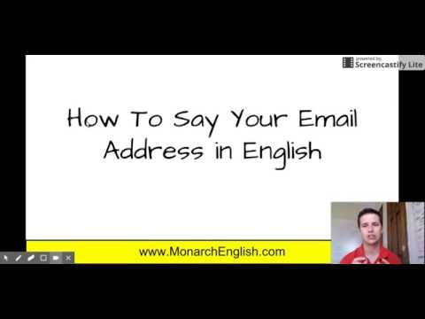 How To Say Your Email Address in English