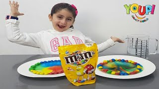The DIY m&m's Rainbow Experiment by Yasmine!!