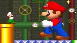 New Super Mario Bros DS - Mario Vs. Luigi Mode (All 5 Stages)