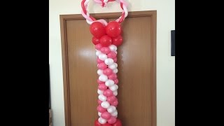 How To Make a Balloon Heart Tower