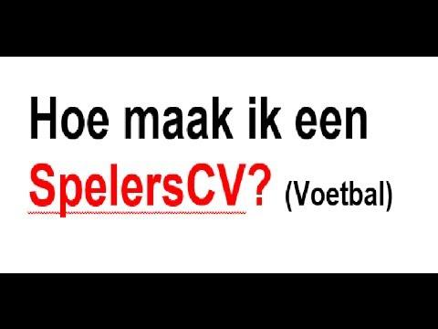 voorbeeld voetbal cv Hoe maak ik een spelersCV? (Voetbal)   YouTube