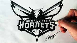 Como Desenhar a logo Charlotte Hornets [NBA] - (How to Draw Hornets logo) - NBA LOGOS #3
