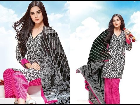 155f443379 Gul Ahmed Black And White Collection 2017 - YT