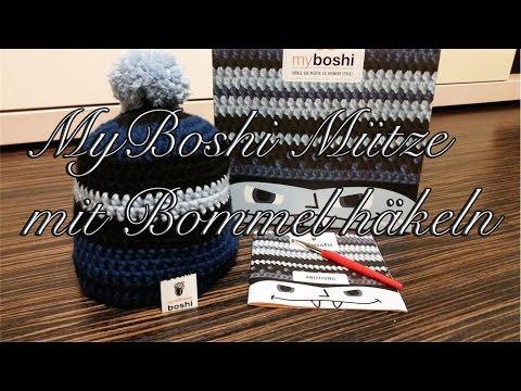 Myboshi Mütze Mit Bommel Häkeln Youtube