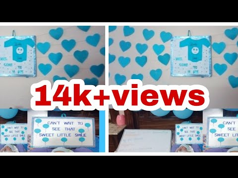 Stayhome And Learn Withme New Born Baby Welcome Home Decoration Ideas Welcome Baby Boy To Home Youtube