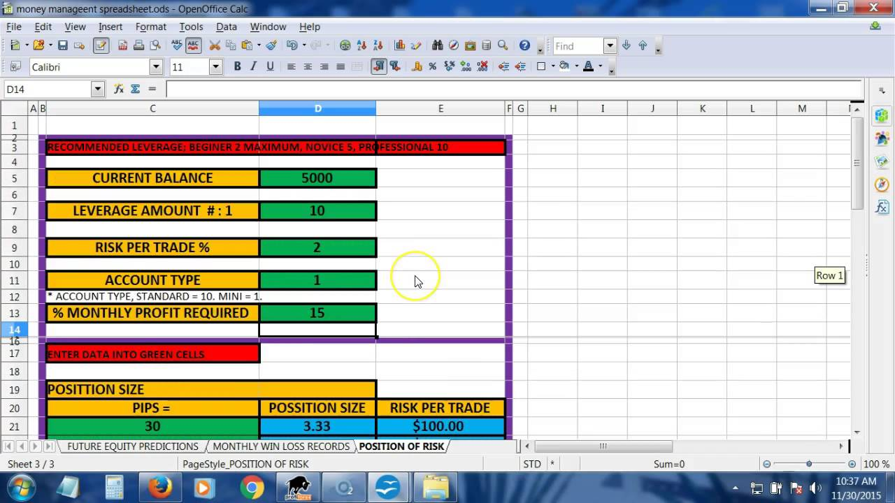 Instructions: Money Management Spreadsheet - YouTube