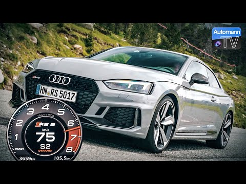 2018 Audi RS5 (450hp) - 0-100 km/h Launch Control (60FPS)