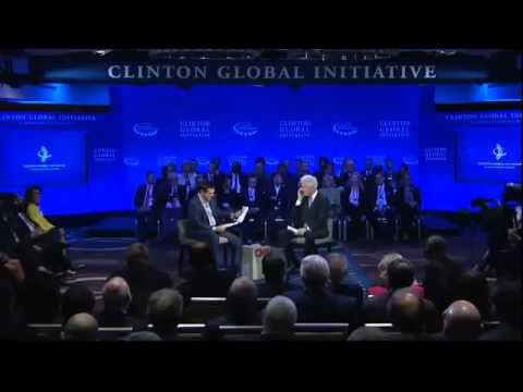 Greek Prime Minister Alexis Tsipras and President Bill Clinton