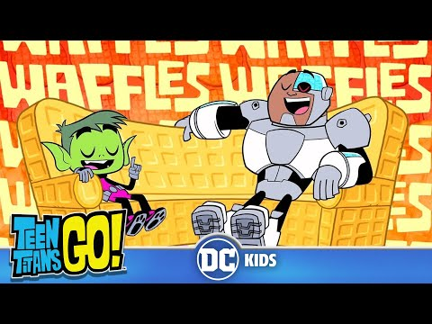 Teen Titans Go! KARAOKE | Waffles Waffles Waffles | DC Kids