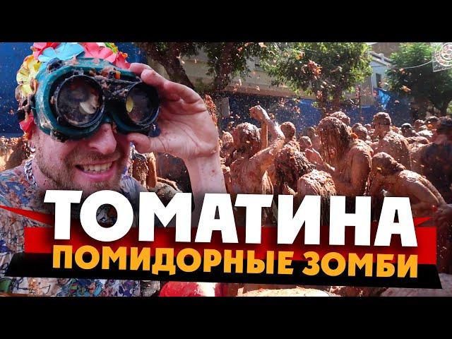 ТОМАТИНА - томатом в глаз! / La Tomatina / жизнь в испании