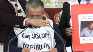 CHP İZMİR MİLLETVEKİLİ MUSA ÇAM GEZİ TUTUKLULARI AİLELERİ İLE BASIN TOPLANTISI  08.01.2014