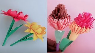 How to make beautiful paper flower step by step