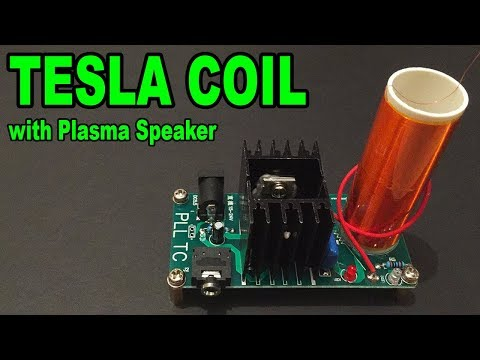 Tesla Coil DIY KIT (Music Plasma Speaker) with detailed assembly - By STE